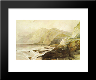 Cape Blanco: Modern Black Framed Art Print by David Roberts