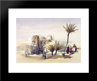 Church Of The Holy Sepulchre, Jerusalem: Modern Black Framed Art Print by David Roberts