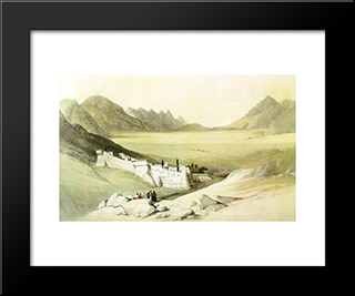 Convent Of Saint Catherine, Mount Sinai: Modern Black Framed Art Print by David Roberts