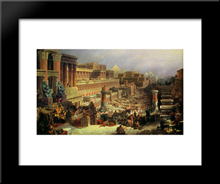 Departure Of The Israelites: Modern Black Framed Art Print by David Roberts