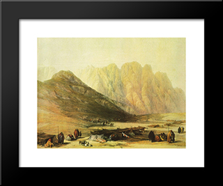 Encampment Of The Oulad Said: Modern Black Framed Art Print by David Roberts