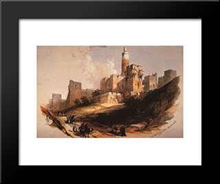 Entrance To The Citadel: Modern Black Framed Art Print by David Roberts