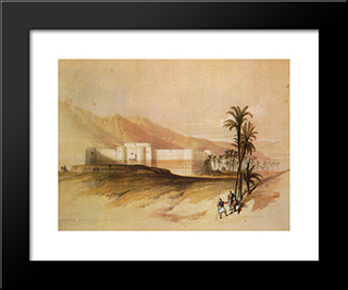 Fortress Of Aqaba: Modern Black Framed Art Print by David Roberts