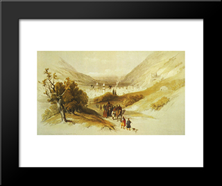 Nablus: Modern Black Framed Art Print by David Roberts