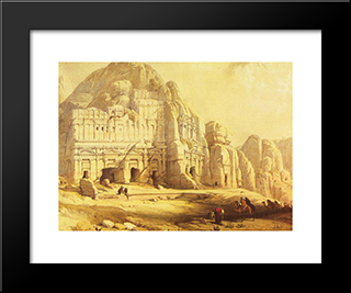 Pelra. Views Of The Eastern End Of The Valley: Modern Black Framed Art Print by David Roberts