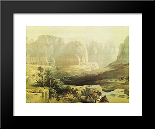 Sight Of Petra, South: Modern Black Framed Art Print by David Roberts
