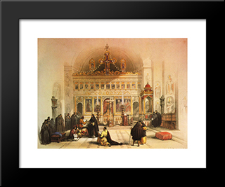 The Chapel Of Saint Saba: Modern Black Framed Art Print by David Roberts