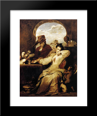 Josephine And The Fortune Teller: Modern Black Framed Art Print by David Wilkie