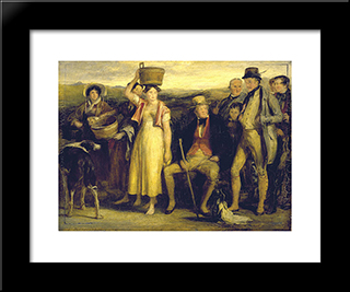 The Abbotsford Family: Modern Black Framed Art Print by David Wilkie