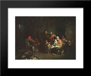 The Blind Fiddler, Illustration From 'Lives Of Great Men Told By Great Men', Edited By Richard Wilson: Modern Black Framed Art Print by David Wilkie
