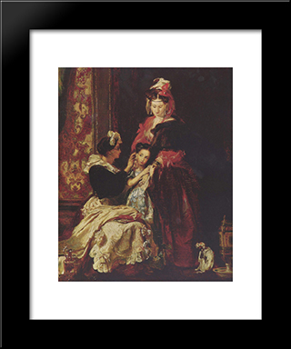 The First Earring: Modern Black Framed Art Print by David Wilkie