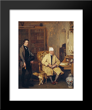 The Letter Of Introduction: Modern Black Framed Art Print by David Wilkie