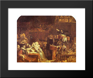 The Preaching Of John Knox Before The Lords Of Congregation, 10 June 1559: Modern Black Framed Art Print by David Wilkie