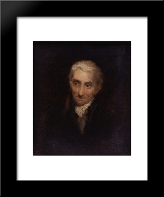 Unknown Man, Formerly Known As James Northcote: Modern Black Framed Art Print by David Wilkie