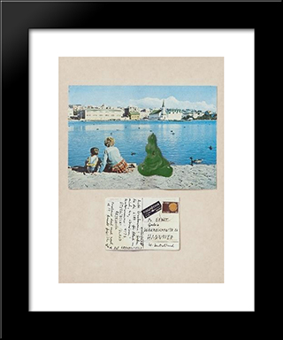 Untitled (Island): Modern Black Framed Art Print by Dieter Roth