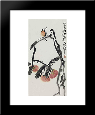 Bird: Modern Black Framed Art Print by Ding Yanyong