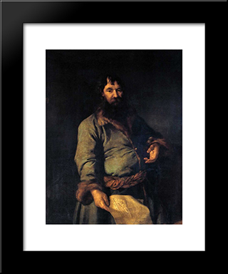 Philanthropic Giver (Portrait Of N. A. Sezemov): Modern Black Framed Art Print by Dmitry Levitzky
