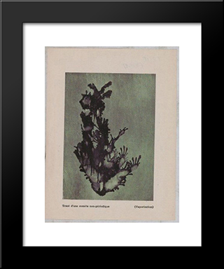 Trace Of A Non - Periodical Comet (Vaporization): Modern Black Framed Art Print by Dolfi Trost