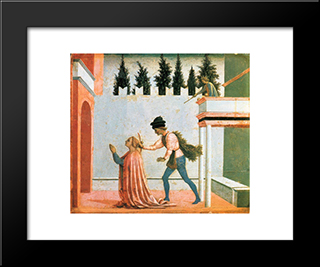 Martyrdom Of St. Lucy: Modern Black Framed Art Print by Domenico Veneziano