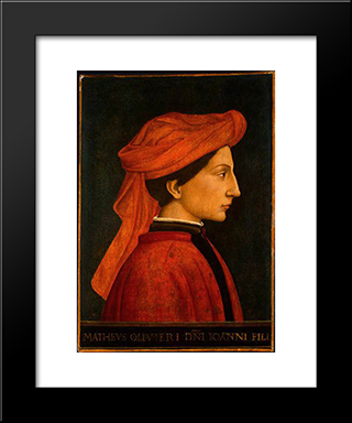 Matteo Olivieri: Modern Black Framed Art Print by Domenico Veneziano