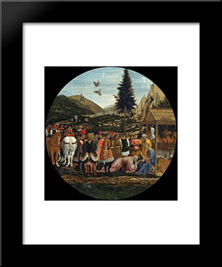 The Adoration Of The Magi: Modern Black Framed Art Print by Domenico Veneziano