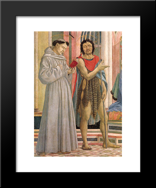The Madonna And Child With Saints: Modern Black Framed Art Print by Domenico Veneziano