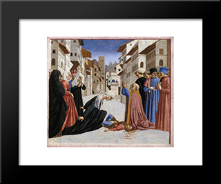 The Miracle Of St. Zenobius: Modern Black Framed Art Print by Domenico Veneziano