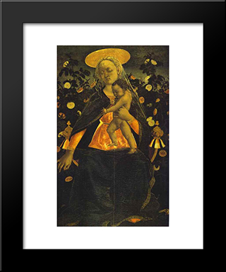 Virgin And Child: Modern Black Framed Art Print by Domenico Veneziano