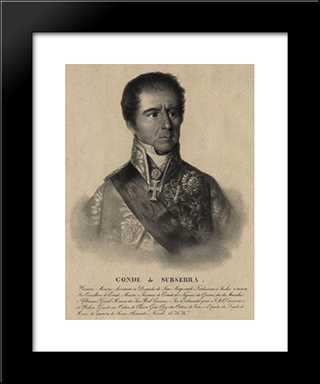 Manuel Inacio Martins Pamplona Corte Real, Count Of Subserra: Modern Black Framed Art Print by Domingos Sequeira