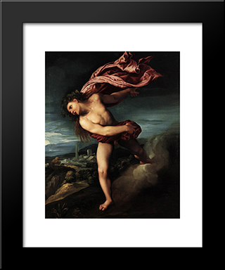Bacchus: Modern Black Framed Art Print by Dosso Dossi