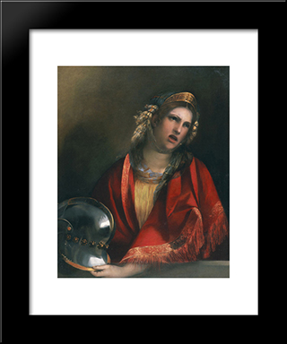 Didone: Modern Black Framed Art Print by Dosso Dossi