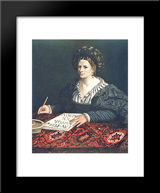 Laura Pisani: Modern Black Framed Art Print by Dosso Dossi