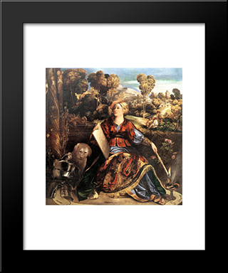 Melissa (Circe): Modern Black Framed Art Print by Dosso Dossi