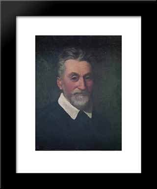 Self-Portrait: Modern Black Framed Art Print by Dosso Dossi