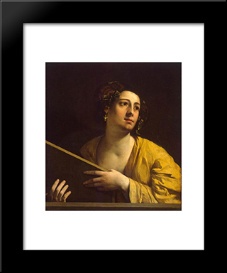 Sibyl: Modern Black Framed Art Print by Dosso Dossi
