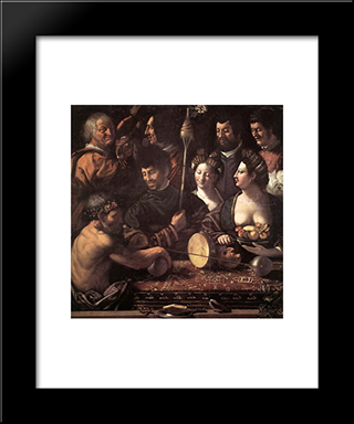 Witchcraft (Allegory Of Hercules): Modern Black Framed Art Print by Dosso Dossi