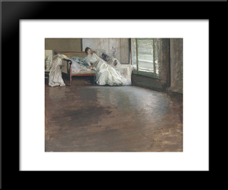 Across The Room: Modern Black Framed Art Print by Edmund Charles Tarbell