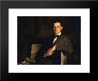 Dr. Harvey Cushing: Modern Black Framed Art Print by Edmund Charles Tarbell