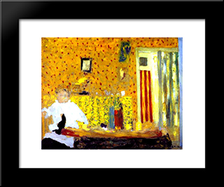 After The Lunch: Custom Black Wood Framed Art Print by Edouard Vuillard