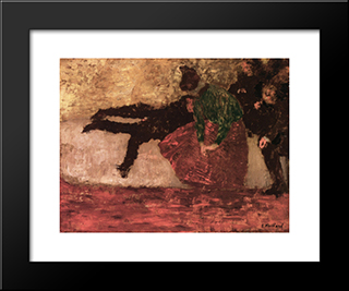 After The Ball: Modern Black Framed Art Print by Edouard Vuillard