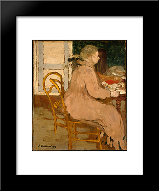 Breakfast: Modern Black Framed Art Print by Edouard Vuillard