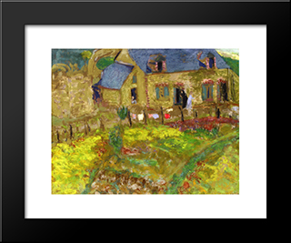 Breton House: Modern Black Framed Art Print by Edouard Vuillard