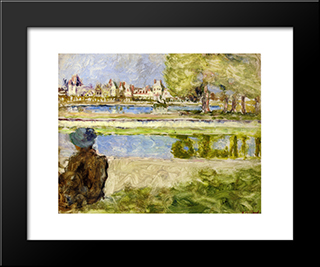Chateau Of Fontainebleau: Custom Black Wood Framed Art Print by Edouard Vuillard