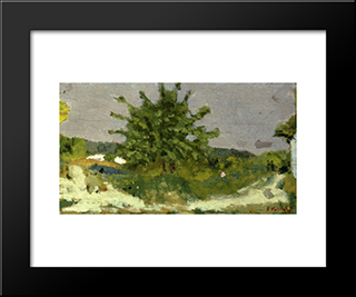 First Fruit: Modern Black Framed Art Print by Edouard Vuillard