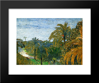 Garden In Cannes: Modern Black Framed Art Print by Edouard Vuillard