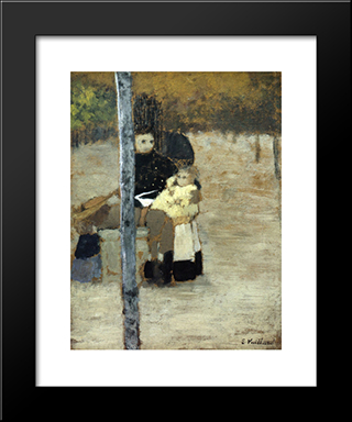 Good Children: Modern Black Framed Art Print by Edouard Vuillard