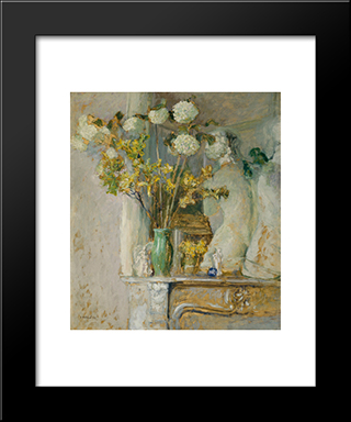 Guelder Roses And The Venus Of Milo: Modern Black Framed Art Print by Edouard Vuillard
