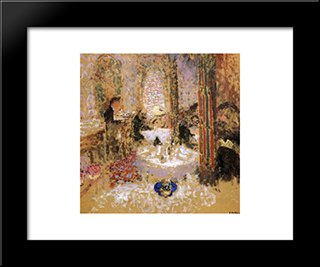 Home Maxime: Modern Black Framed Art Print by Edouard Vuillard