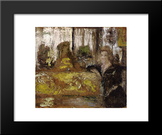Madame Arthur Fontaine: Modern Black Framed Art Print by Edouard Vuillard