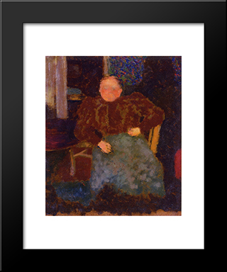 Madame Vuillard Seated: Modern Black Framed Art Print by Edouard Vuillard